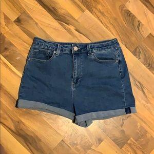 Fashion Nova mom jean shorts